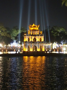 Temple of the lady Buddha, Hoan Kiem Lake, Hanoi, Vietnam