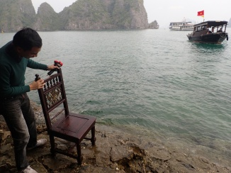 "Chair ""ladder"" Halong Bay, Vietnam"