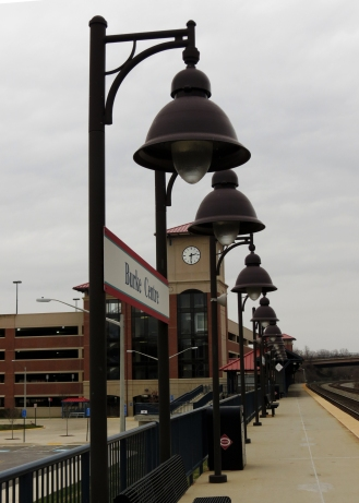VRE station, Burke, VA, looking West