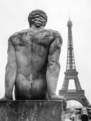 View of Eiffel Tower from the Trocadero, Paris, France