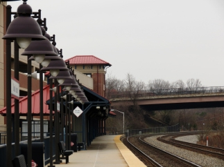 VRE station, Burke, VA, facing West