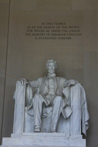 Statue of Abraham Lincoln, Lincoln Memorial, Washington, D.C.