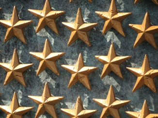 Stars on Freedom Wall