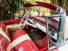 Interior, Mid 1950s Oldsmobile convertible