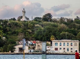 Cristo de la Habana as seen from El Templete restaurant