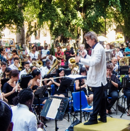 Concert in the Plaza des Armas