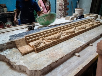 Molding work at the Escuela Taller Workshop School