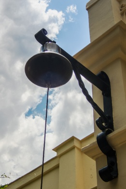 Bell at front entry, Hemingway main house
