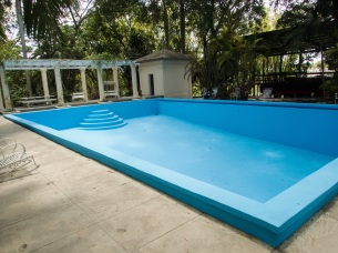 Hemingway's swimming pool and bath house