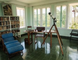 Hemingway's study in the tower