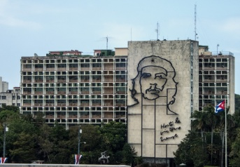 "Likeness of Ernesto ""Che"" Guevara on the Ministry of the Interior"