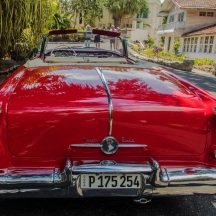 View from behind, Mid 1950s Oldsmobile convertible