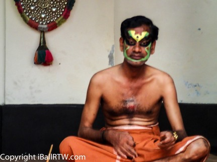 Kathakali makeup preparation