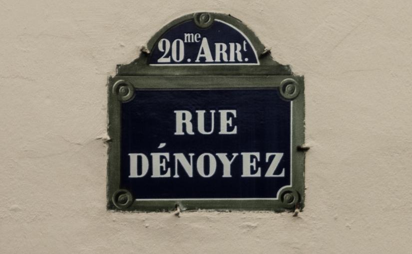 Rue Dénoyez: Paris StreetArt