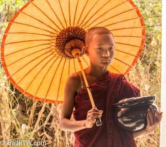 Monk with Umbrella