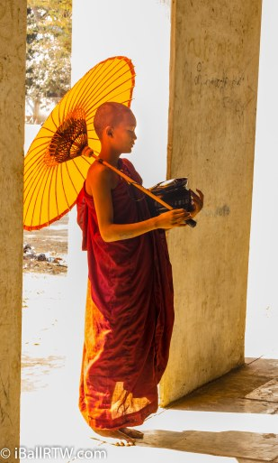 Monk with Umbrella