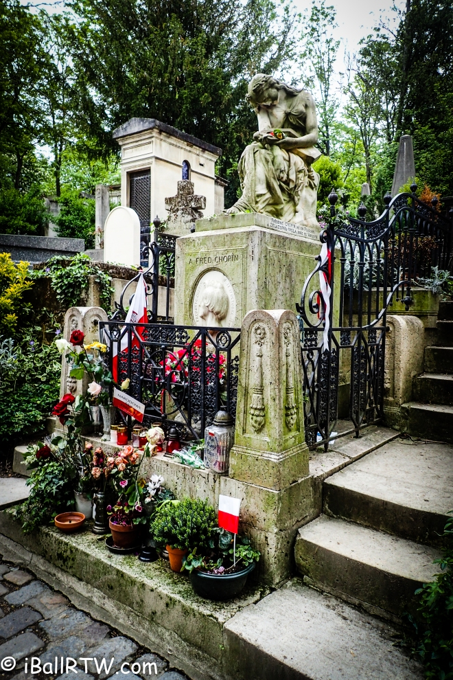 Frederic Chopin at Cimetière du Père Lachaise