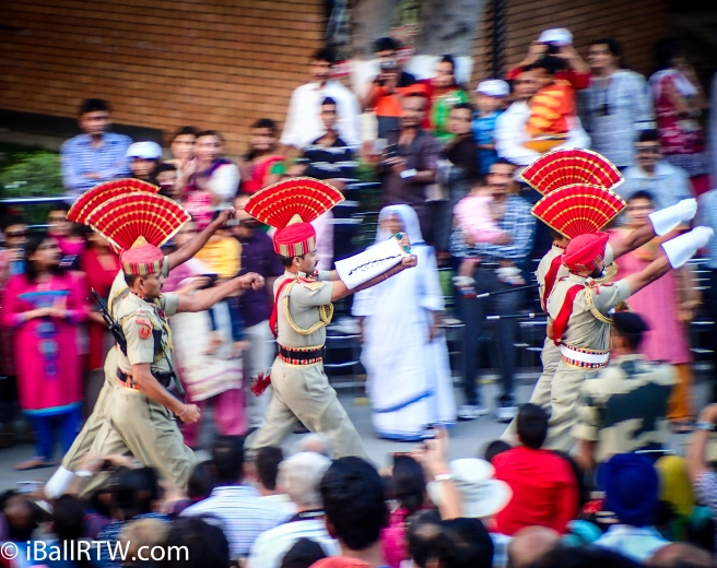 Indian Border Security Force at Wagah Beating Retreat Ceremony
