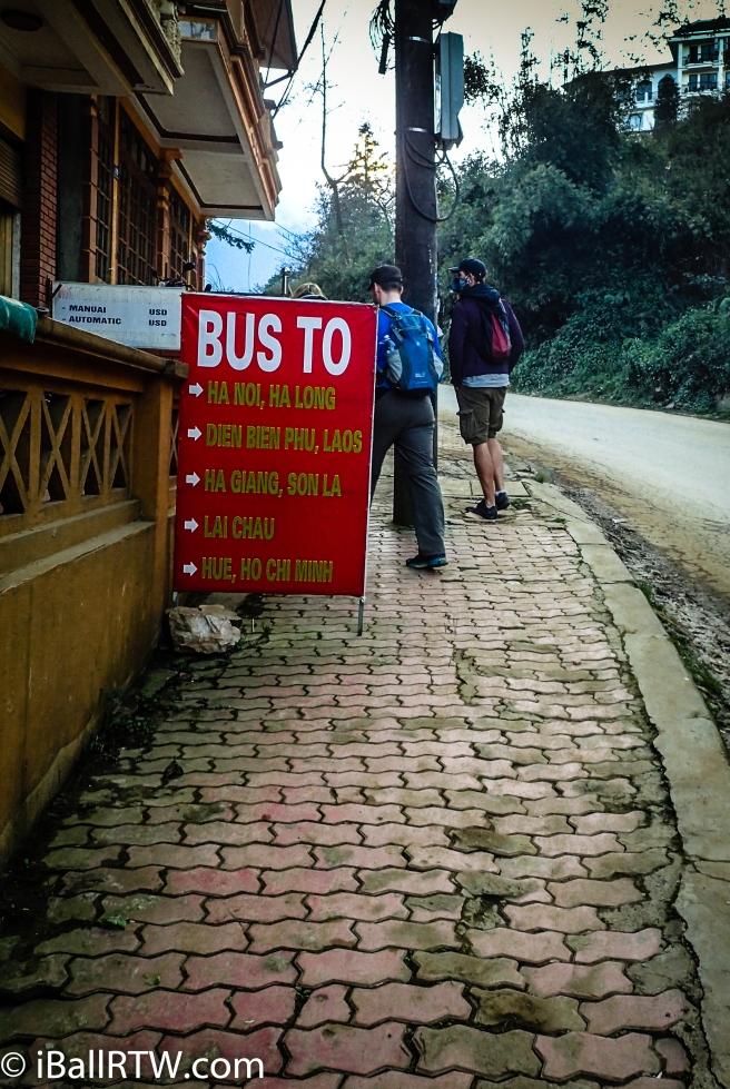 Bus from Sa Pa