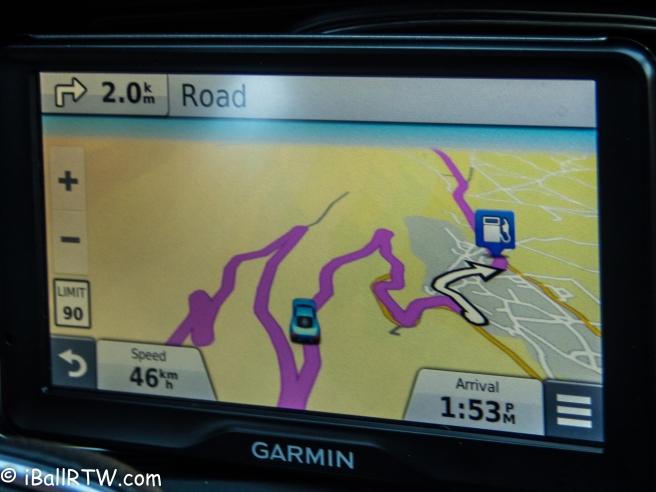 GPS navigation device meets Greek road