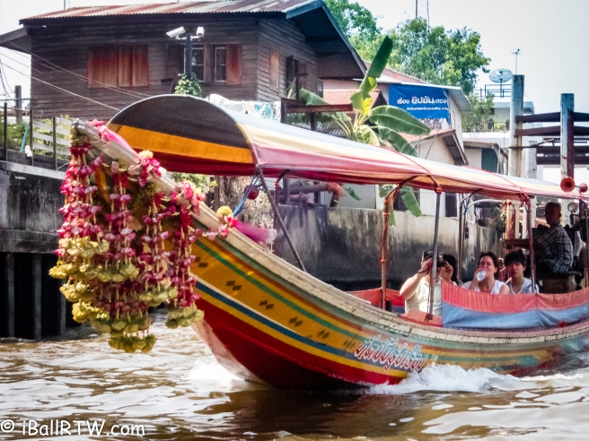 Long-tail Boat on a Bangkok Canal
