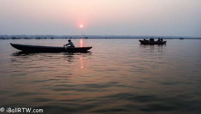 Rowing on the Ganges at Dawn