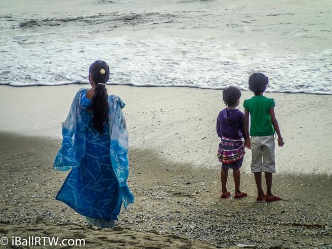 Enjoying Fort Kochi Beach