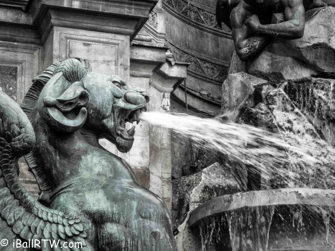 Winged Dragon of Fontaine Saint-Michel