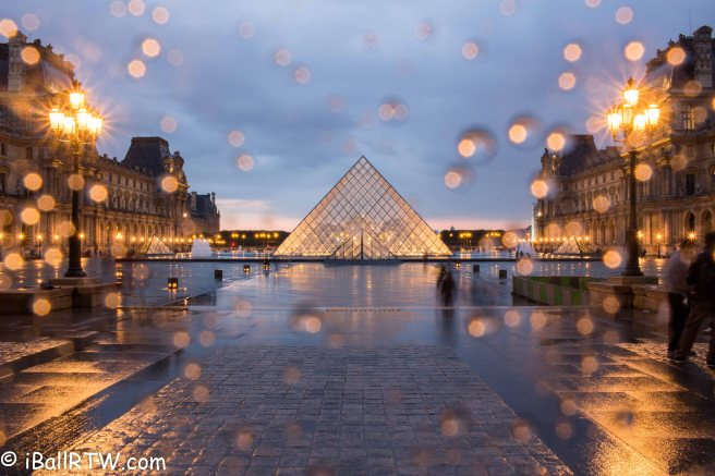 Paris Rain at the Louve