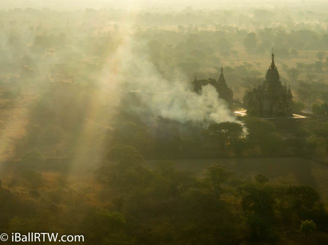 A Smoky Dawn Breaks Over Bagan