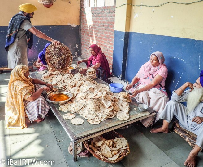 Preparing Roti