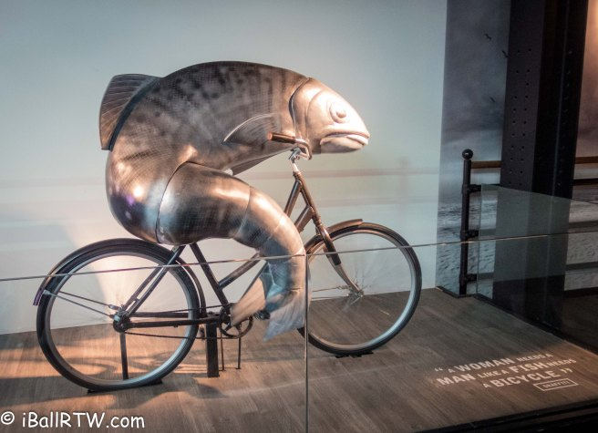 ... like a fish needs a bicycle