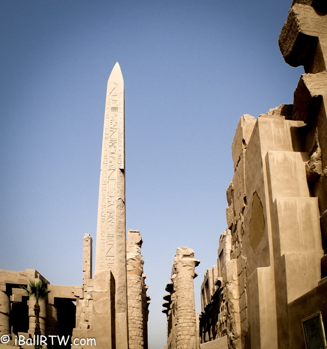 The Obelisk at Luxor Temple