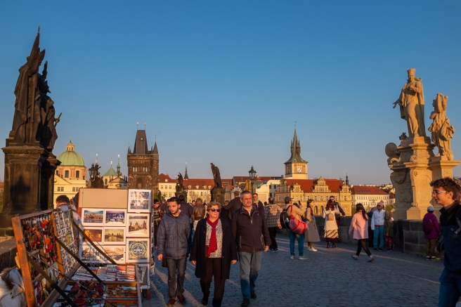Tourist's Eye View of Charles Bridge