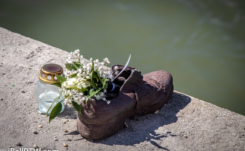 Shoes on the Danube Promenade — Cee's Black & White Photo Challenge: Shoes, Boots, Slippers