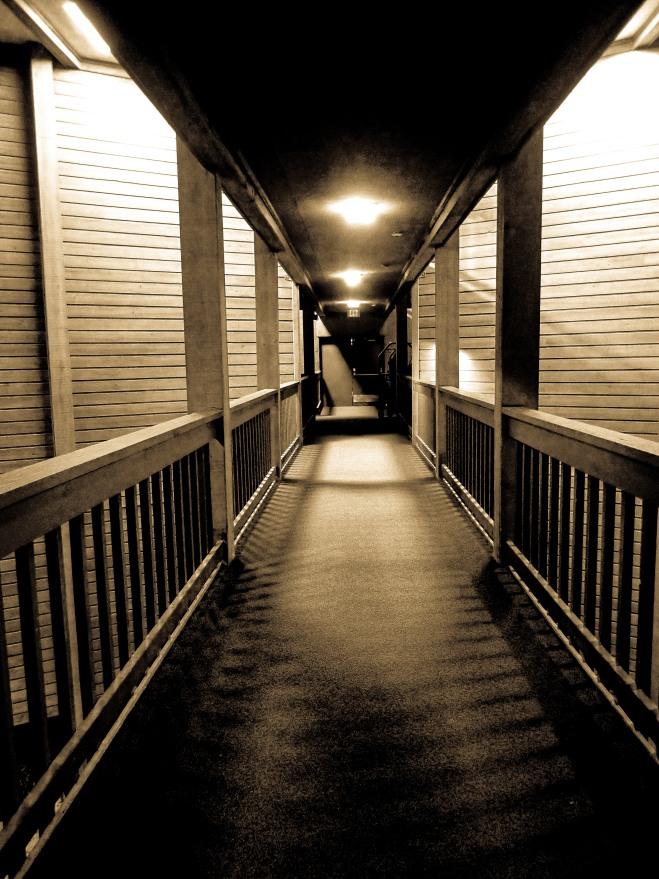 A Sandy Hallway